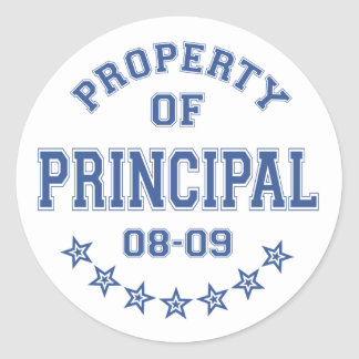 Property Of Principal Classic Round Sticker