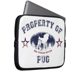 Property Of Pug Laptop Sleeves