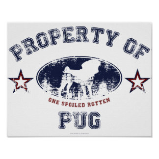 Property Of Pug Print