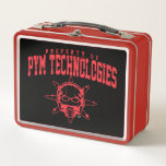 Property of PYM Technologies Metal Lunch Box