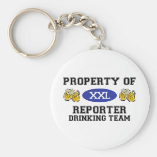 Property of Reporter Drinking Team Key Chain