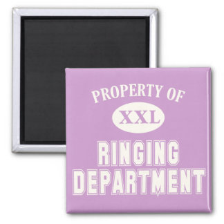 Property of Ringing Department 2 Inch Square Magnet