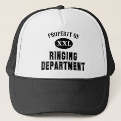 Trucker Hat with Property of Ringing Dept design