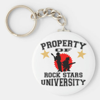 Property Of Rock Star University Keychain