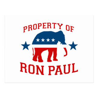 PROPERTY OF RON PAUL POSTCARD
