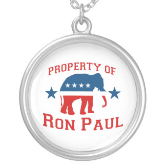 PROPERTY OF RON PAUL ROUND PENDANT NECKLACE