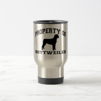 """Property of """"Rottweiler"""" with graphic Travel Mug"""