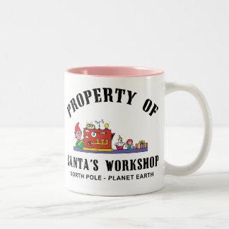 Property of Santa's Workshop Gift Two-Tone Coffee Mug