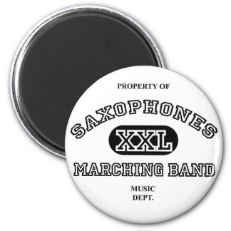 Property of Saxophones 2 Inch Round Magnet