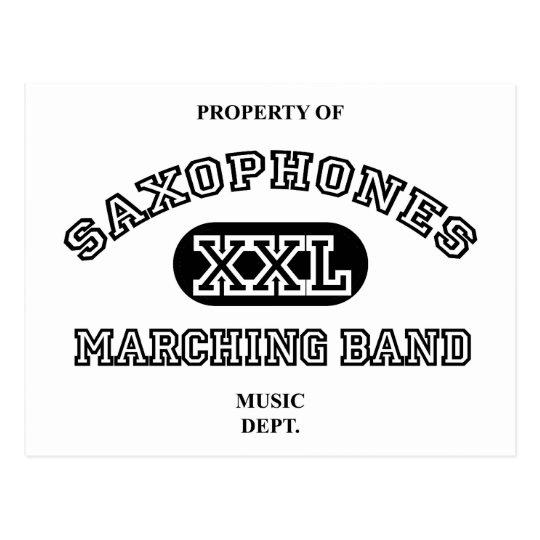 Property of Saxophones Postcard