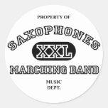 Property of Saxophones Stickers