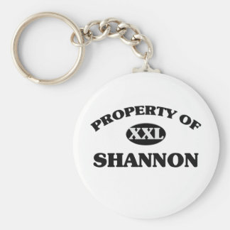 Property of SHANNON Keychain