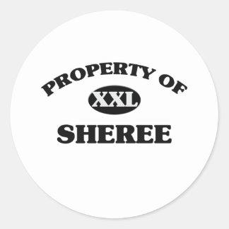 Property of SHEREE Sticker