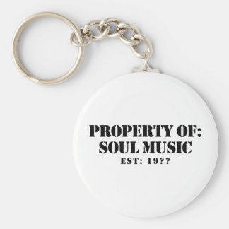 Property Of Soul Music Basic Round Button Keychain