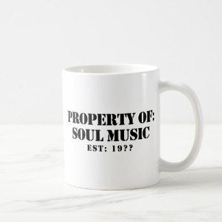 Property Of Soul Music Classic White Coffee Mug