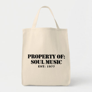 Property Of Soul Music Grocery Tote Bag