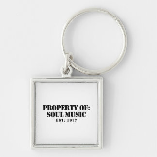 Property Of Soul Music Silver-Colored Square Keychain