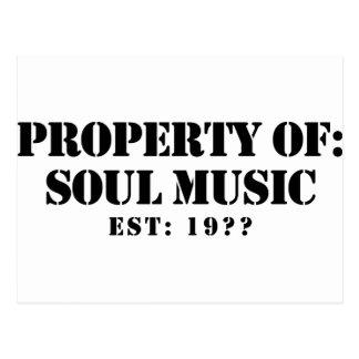 Property Of Soul Music Postcard