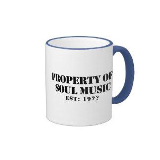 Property Of Soul Music Ringer Coffee Mug