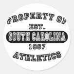 Property of South Carolina shirts Classic Round Sticker