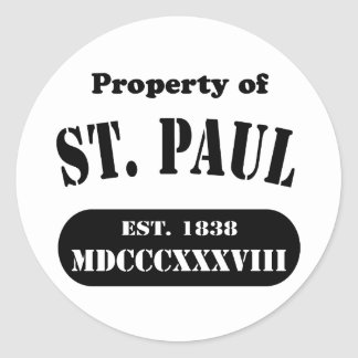 Property of St. Paul Classic Round Sticker