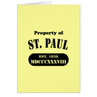 Property of St. Paul Greeting Card