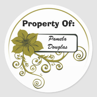 Property Of Sticker (floral olive)