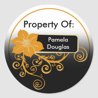 Property Of Sticker (floral orange)