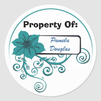 Property Of Sticker (floral teal)