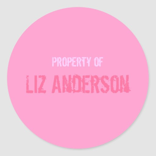 """""""Property Of"""" Sticker - Personalized"""
