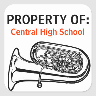 Property Of stickers for band instrument cases