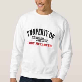 Property of sweatshirt
