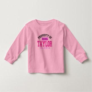 Property of Taylor Toddler T-shirt