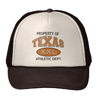 PROPERTY OF TEXAS ATHLETIC DEPT. HATS
