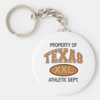 PROPERTY OF TEXAS ATHLETIC DEPT. KEYCHAIN