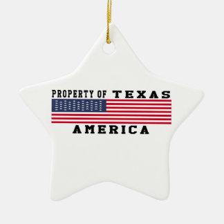 Property Of Texas Christmas Tree Ornaments