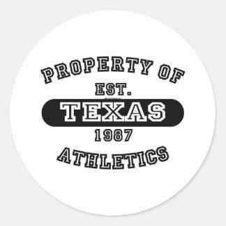 Property of Texas shirts Sticker