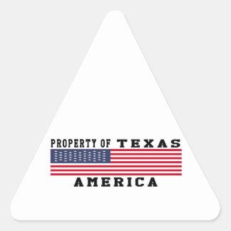 Property Of Texas Triangle Sticker