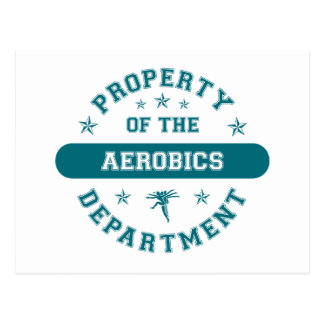 Property of the Aerobics Department Postcard