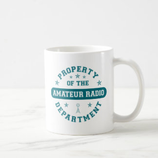 Property of the Amateur Radio Department Classic White Coffee Mug