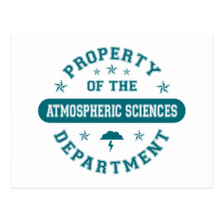 Property of the Atmospheric Sciences Department Postcard