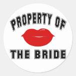 Property of the Bride Round Sticker