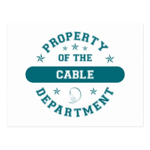 Property of the Cable Department Postcards