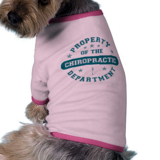 Property of the Chiropractic Department Pet T-shirt