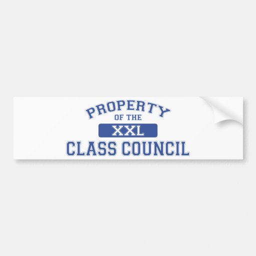 Property Of The Class Council Bumper Sticker