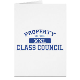Property Of The Class Council Card
