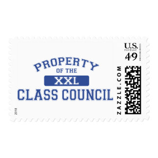 Property Of The Class Council Postage Stamps