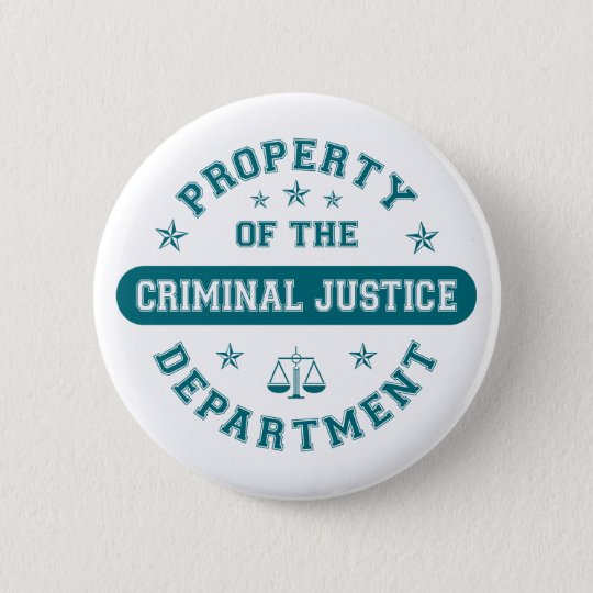 Property of the Criminal Justice Department Button