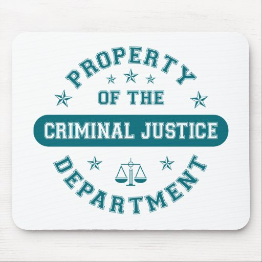 Property of the Criminal Justice Department Mouse Pads