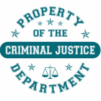 Property of the Criminal Justice Department Cut Outs